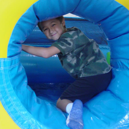 What better obstacle course is there than an inflatable one? Jump, climb, and crawl through this massive blow-up course.