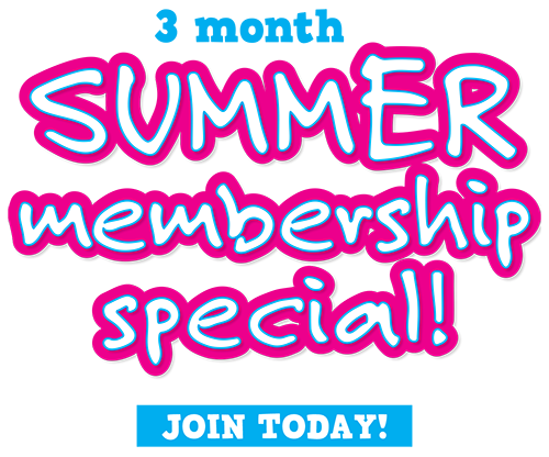 3 month Summer membership special! Join Today!