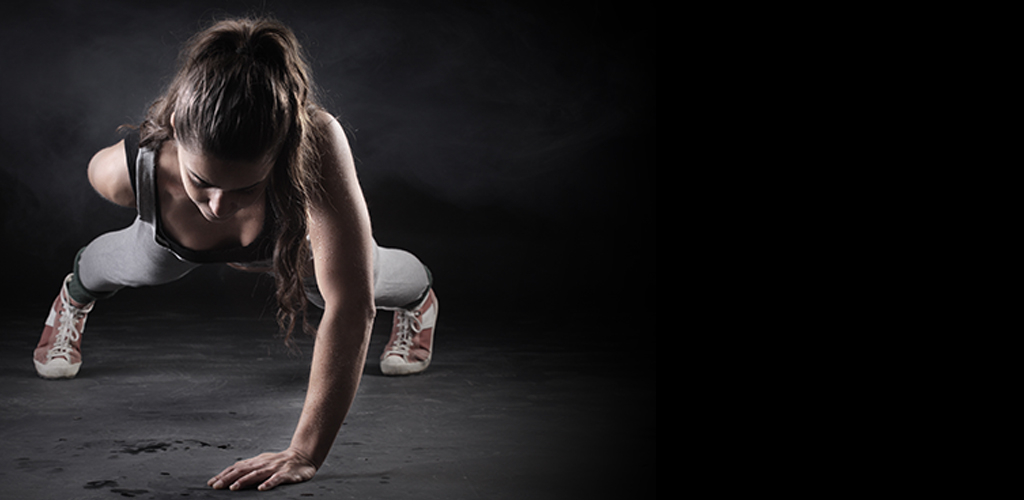 zone 30 pushup woman